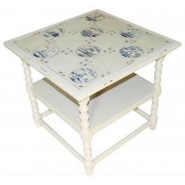 PROVANCE Stile Tisch mit blau gemusterten Fliesen
