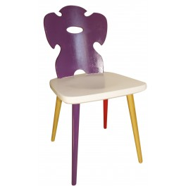 ART FUSION Stuhl mit Lila Rücklehne