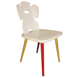ART FUSION Hand-painted chair - red, gold rates
