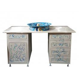 ART FUSION design: Badmöbel bei zeitgenössischer Maler gemalt