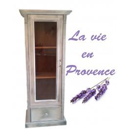 "Vitrine ""La vie en Provence"" (Neu) - Massivholz - Vitrine/Kommode"