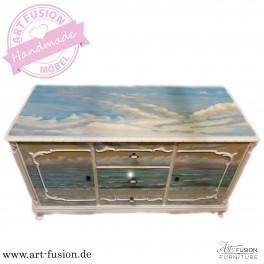 "ART FUSION Design Kommode: ""Sonnenuntergang"""