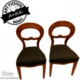 Zwei original antike Biedermeier Stühle aus Wien (um 1830), Stuhl