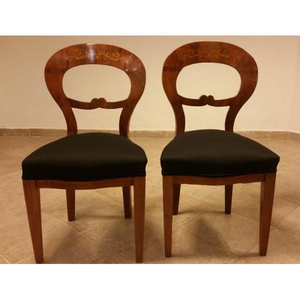 zwei original antike biedermeier st hle aus wien um 1830 stuhl art fusion m bel. Black Bedroom Furniture Sets. Home Design Ideas