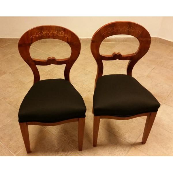 Zwei Original Antike Biedermeier Stuhle Aus Wien Um 1830