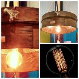 Lofthaus Design Lampe-Lampe vom eine antike Fruchsieb