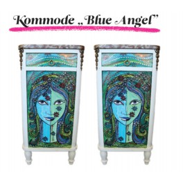 "Design Kommode ""Blaue Engel"""