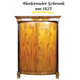 Biedermeier szekrény 1825 körül ében oszlopokkal