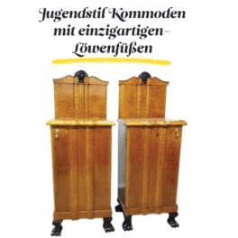 Art Nouveau commodes (a pair)
